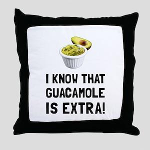 Guacamole Is Extra Throw Pillow