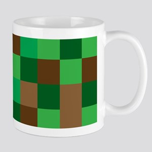 Green Pixelated Design Mugs