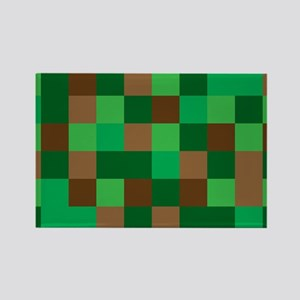Green Pixelated Design Magnets