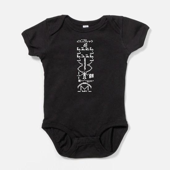 Arecibo Binary Message 1974 Baby Bodysuit