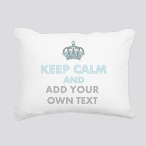Keep Calm Add Text Rectangular Canvas Pillow