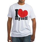 I LOVE Myself Fitted T-Shirt