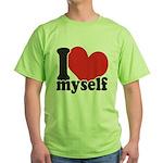 I LOVE Myself Green T-Shirt