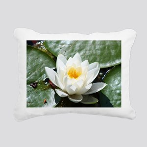 Lotus Rectangular Canvas Pillow