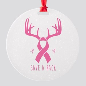 Save a Rack (Pink) Round Ornament