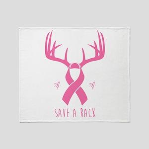 Save a Rack (Pink) Throw Blanket