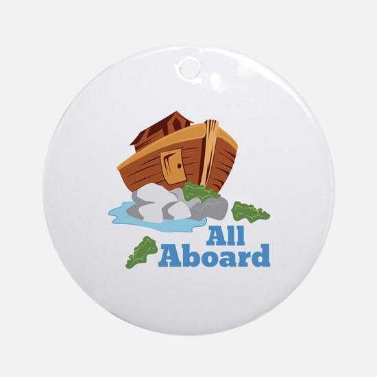 All Aboard Ornament (Round)
