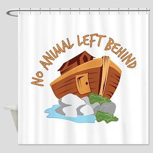 No Animal Left Shower Curtain
