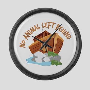 No Animal Left Large Wall Clock