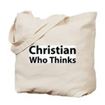 Christian Who Thinks Tote Bag