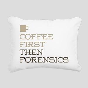 Coffee Then Forensics Rectangular Canvas Pillow