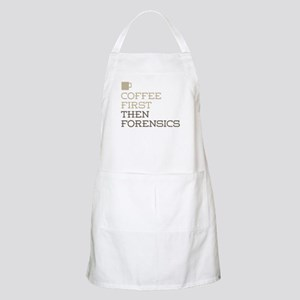 Coffee Then Forensics Apron