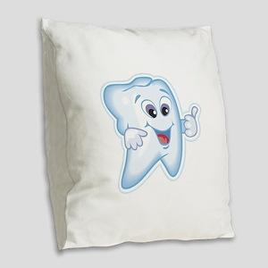 Dentist Dental Hygienist Burlap Throw Pillow