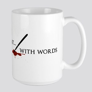 Killing It With Words (black) Mugs