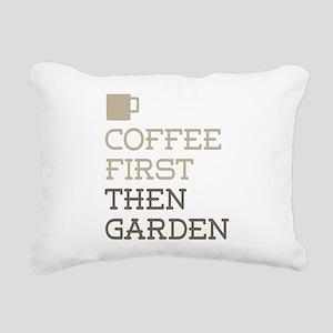 Coffee Then Garden Rectangular Canvas Pillow