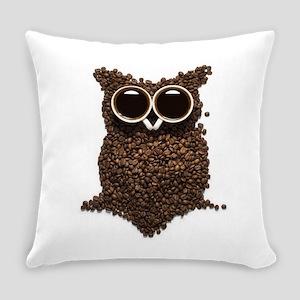 Coffee Owl Everyday Pillow