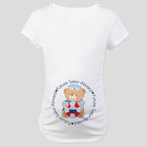 Future Sailor Belly Print Maternity T-Shirt