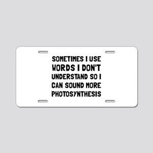 Photosynthesis Aluminum License Plate