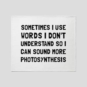 Photosynthesis Throw Blanket