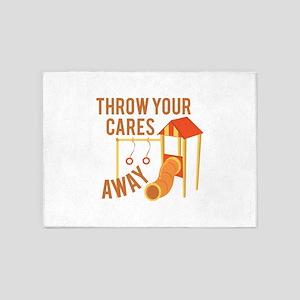 Throw Cares Away 5'x7'Area Rug