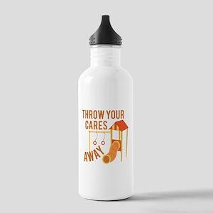 Throw Cares Away Water Bottle