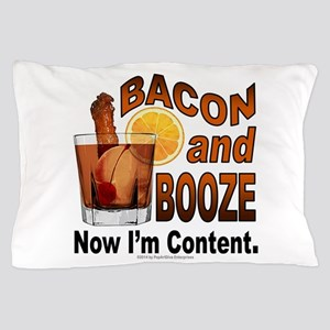 BACON and BOOZE Pillow Case