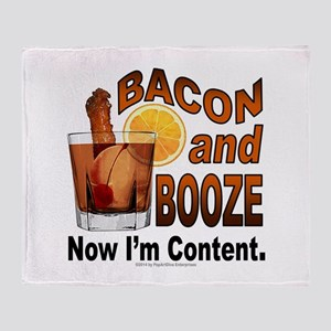 BACON and BOOZE Throw Blanket