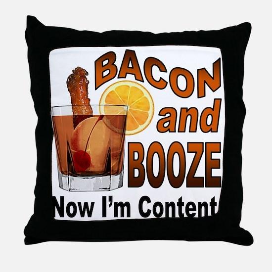 BACON and BOOZE Throw Pillow