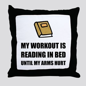 Reading In Bed Throw Pillow