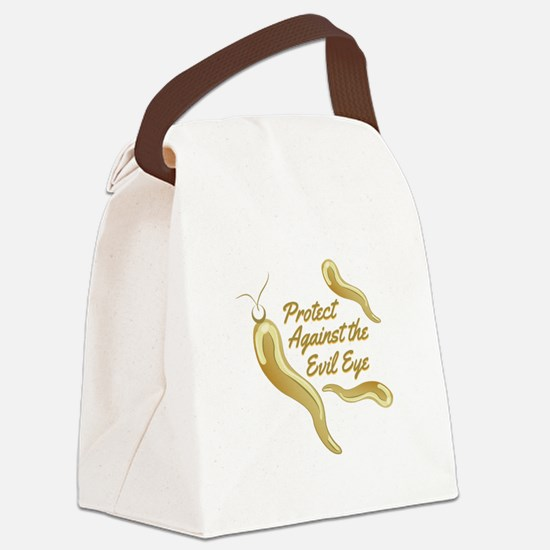 Protect Evil Eye Canvas Lunch Bag
