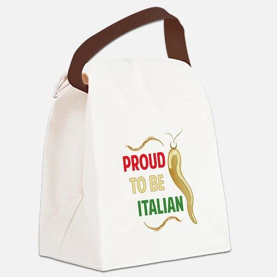 Proud Italian Canvas Lunch Bag