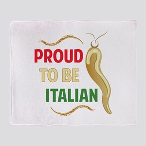 Proud Italian Throw Blanket