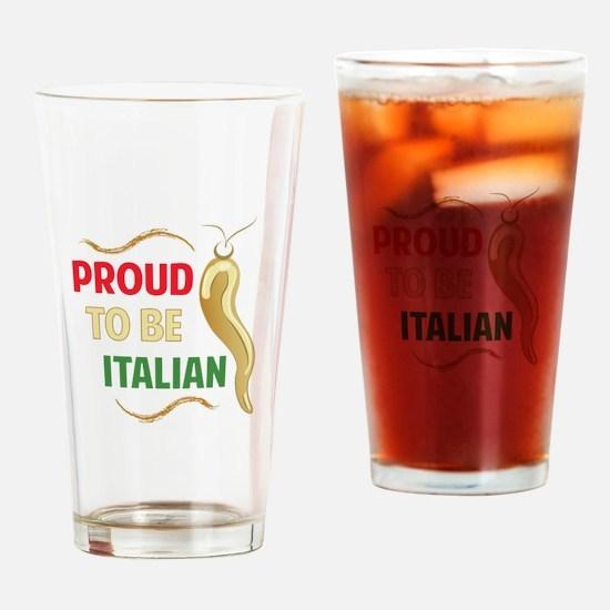 Proud Italian Drinking Glass