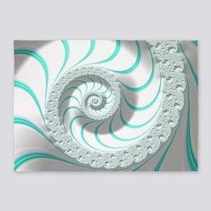 Beautiful Pastel Abstract Fractal A 5'x7'Area Rug