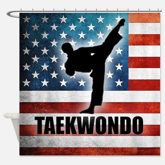 Cute Taekwondo Shower Curtain