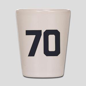 70 70th Birthday 70 Years Old Shot Glass