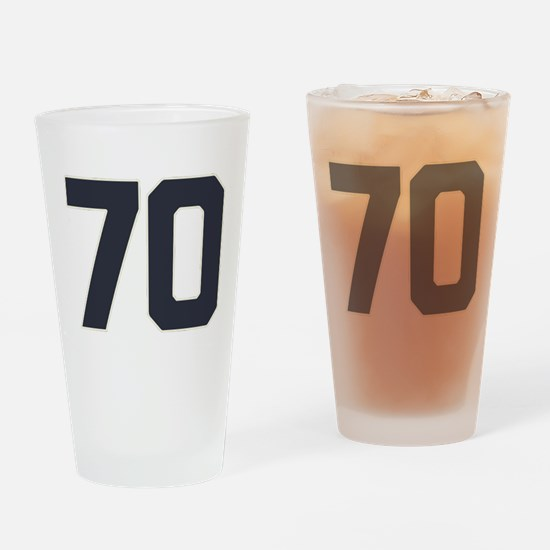 70 70th Birthday 70 Years Old Drinking Glass