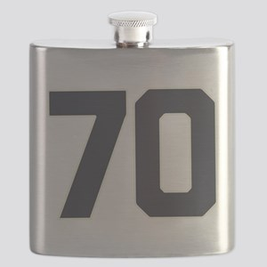 70 70th Birthday 70 Years Old Flask