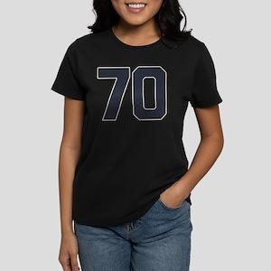 70 70th Birthday 70 Years Old Women's Dark T-Shirt