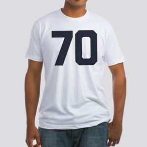 70 70th Birthday 70 Years Old Fitted T-Shirt