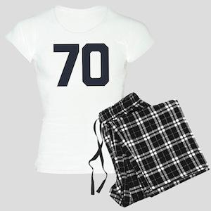 70 70th Birthday 70 Years O Women's Light Pajamas