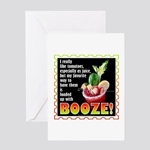 Tomatoes with Booze? Bloody Mary Greeting Cards