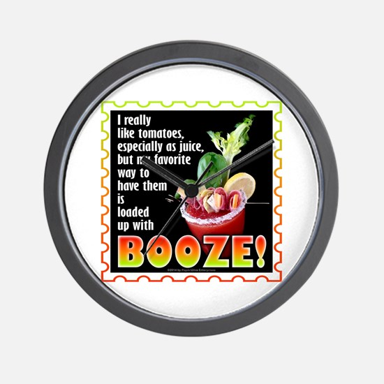 Tomatoes with Booze? Bloody Mary Wall Clock