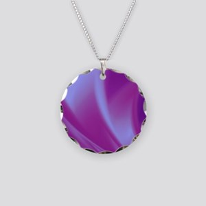 Veils of Purple Fractal Necklace Circle Charm