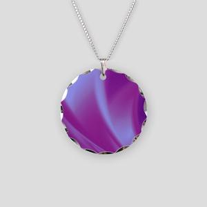 Veils of Purple Fractal Necklace Circle Charm