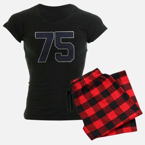 75 75th Birthday 75 Years Ol Pajamas