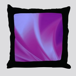 Veils of Purple Fractal Throw Pillow