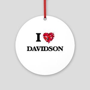 I Love Davidson Ornament (Round)