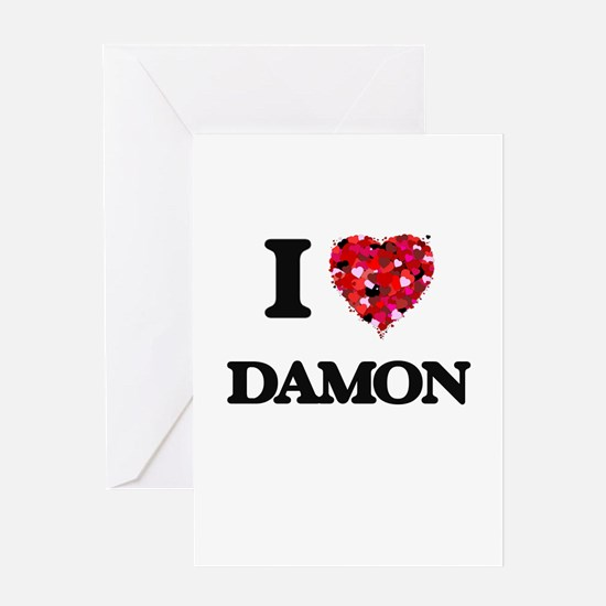 I Love Damon Greeting Cards