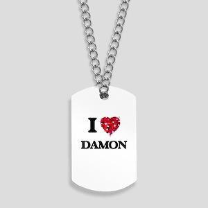 I Love Damon Dog Tags